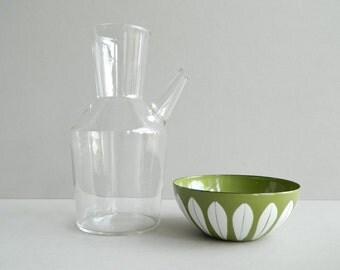 Vintage rare Iittala Finland Clear Glass Decanter Carafe Water Pitcher by Erkki Vesanto