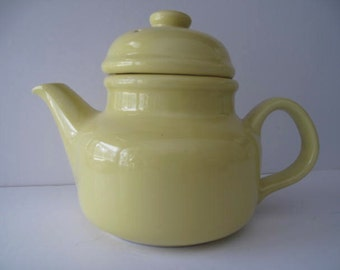 Vintage  Ceramic Yellow Teapot