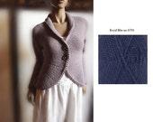 Womens Hand Knit Sweater Jacket Wool Cardigan LISTING for KCERRONE