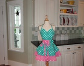 "Hey Good Lookin What ya Got Cookin ~ Women's Apron ""Sadie Style"" 4RetroSisters"