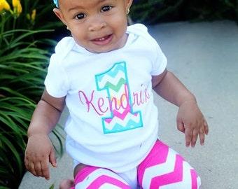 Rainbow Birthday Shirt - Girls First Birthday Shirt - First Birthday Girl  - Rainbow Birthday Bodysuit