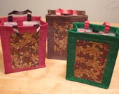 Custom Order Christmas Fabric Gift Bag Set of 12 for Vickie