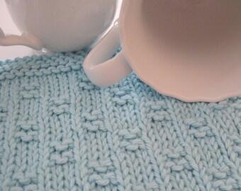 Knitted Miniature Block Dishcloth PDF Pattern