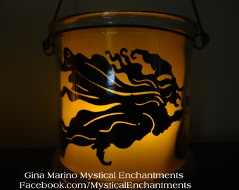 Halloween Lantern Luminary WITCH