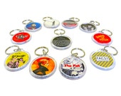 """Indie Music Band Keyring Choose One from this Array of Indie Bands - mostly UK - 1.75"""" Keychain"""