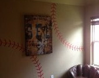Baseball stitching Vinyl wall decal Sports vinyl decal