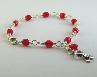 Von Willebrand Disease Awareness Bracelet
