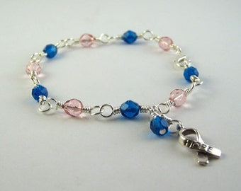 Male Breast Cancer Awareness Bracelet