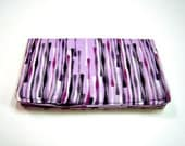 Purple, Black and White Card Holder Wallet