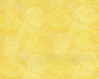 "Shaded Yellow Circles Cotton Fabric Remnant - Ideal 4 Aprons, Quilt Piecing, Sewing, 36"" x 44"" Vintage Yardage -"