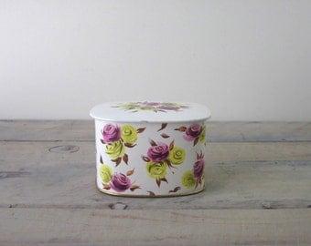 English Floral Tin
