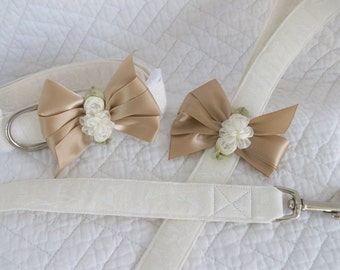 Wedding Leash and Collar Dog Collar and Leash Set