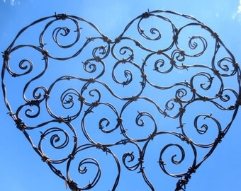 Spirillian Barbed Wire Heart Filled With Random Spirals