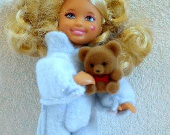 TEDDY BEAR Pet for Dolls w bed n blanket fashion dolls fun