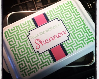 Design Your Own Cake Pan : Items similar to PERSONALIZED Casserole or Cake Pan ...