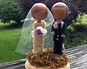 Custom Wedding Cake Toppers Clothes Pin Dolls Bride and Groom Personalized 3D Accents Anniversary Keepsake Cute CreativeButterflyXOX