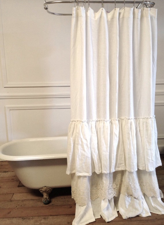 Vintage Shower Curtains Sale Ruffle shower curtain sale