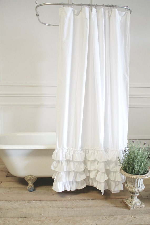 Sofia Shower Curtain In Linen Or Cotton