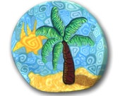 Palm Tree in the Sun Silly Milly Polymer Clay Cane Small