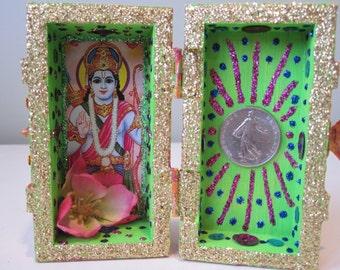 Rama mini nicho, Hindu altar, shrine, folk art, spirit house