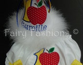 Custom set...SNOW WHITE INSPIRED, party hat and bloomers...any color..any theme...diaper cover..dress up..first birthday bloomers,children