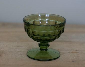vintage green sherbet dish by fostoria