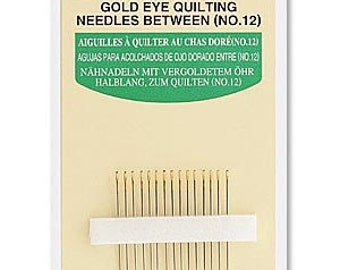 Clover Gold Eye Quilt Needles Part No. 496/12