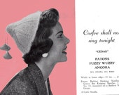 Vintage 1940s Womens Girls Hats Gloves Knitting & Crochet Patterns Book  Patons 444 ORIGINAL patterns not PDF