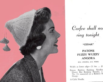 Patons 444 Vintage 1940s Womens Girls Hats Gloves Knitting & Crochet Patterns Book ORIGINAL patterns not PDF