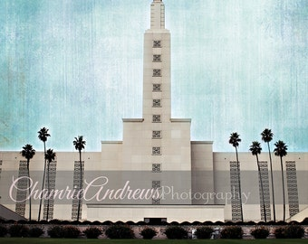 Los Angeles LDS Temple - Instant digital DOWNLOAD - Large Temple Print - LA Temple - Portrait Style