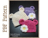 Crochet Bear Hat Pattern, Chunky Beanie, MONA and OTHELLO BEAR - pdf 116