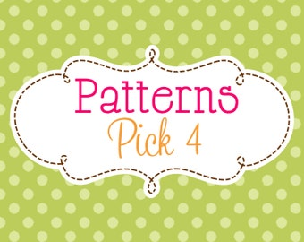 4 Crochet or Knitting Patterns Savings Pack, PDF Files, Permission to Sell Finished Items, Bundle Deal