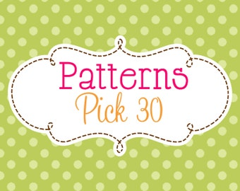 30 Crochet or Knitting Patterns Savings Pack, PDF Files, Permission to Sell Finished Items, Bundle Deals