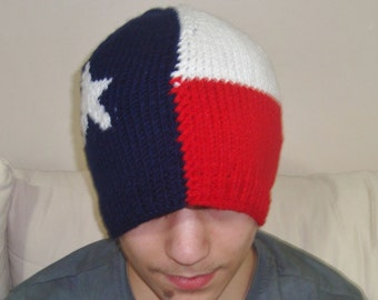 Texas Flag Hats, Knit Hats, Adult Hats, Women Hats, Men Hats, Winter Hats, Ski Hats, texas gift for men, gift for women