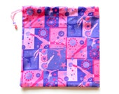 LIMITED AVAILABILITY Gymnastics Grip Bag or Gift Bag Gymnastics Pink and Purple Gymnast Print