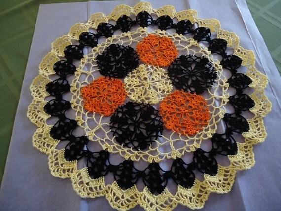 Halloween Handmade Crochet  Beautiful Pumpkin Doily