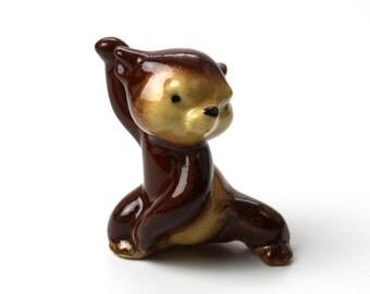 Baby Bear Figurine - Paw Up - by Hagen Renaker