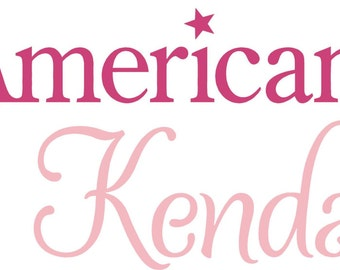 "American Girl PERSONALIZED Name 36"" Vinyl Wall Lettering Words Quotes Decals Art Custom"