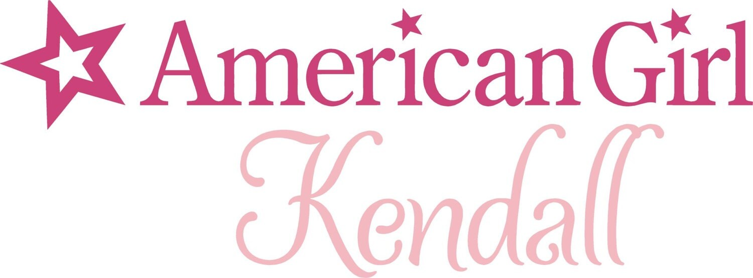 American Girl PERSONALIZED Name 36 Vinyl Wall Lettering