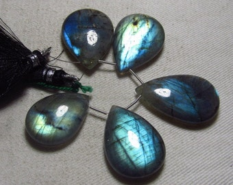 AAAA - Awesome Amazing Gorgeous  Multy Fire - LABRADORITE - Smooth Polished Pear Briolett Focal Huge size - 18x25 - 20x32 mm - 5 pcs