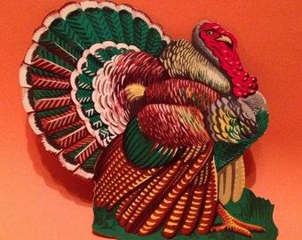 Vintage Turkey Cardboard Decoration