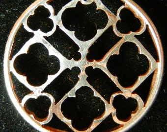 Rose Window Hand Cut Coin Jewelry