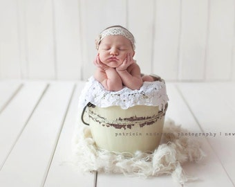 Organic Nest Fluff Newborn PhotoProp Basket Filler Photography Prop Jute