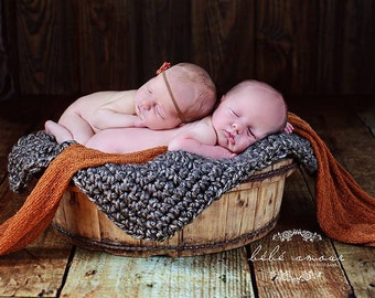 newborn Photo Prop Chunky Mini Blanket Photography Prop Basket Filler Basket Stuffer Bucket Pick your color