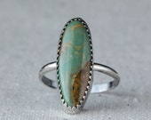 Green Turquoise Ring, Sterling Silver Ring, Ready to Ship
