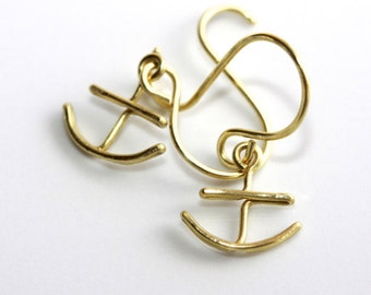Anchor Earrings * Cruise Gifts * Marine Jewelry * Ocean Earrings * Nautical Earrings * Nautical Jewelry * Ocean Earrings.....*Nowhere Bound*