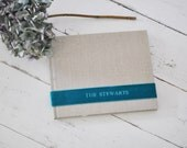 Custom Handmade Wedding Guest Book, a Meaningful Keepsake - Velvet Sash design by ClaireMagnolia
