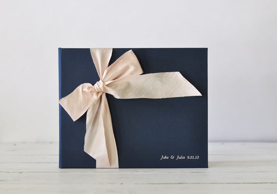 Wedding Sign In Book Guest - Wedding Guest Book Ideas - Silk Dupioni Bow by Claire Magnolia