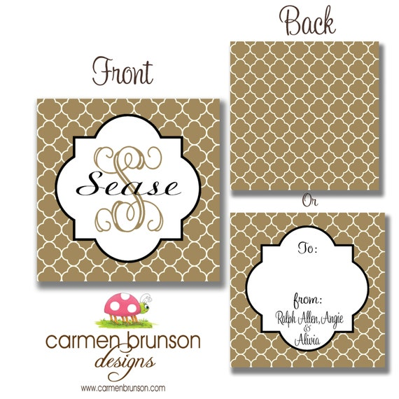 Items similar to personalized monogrammed calling cards for Personalized gift cards for businesses