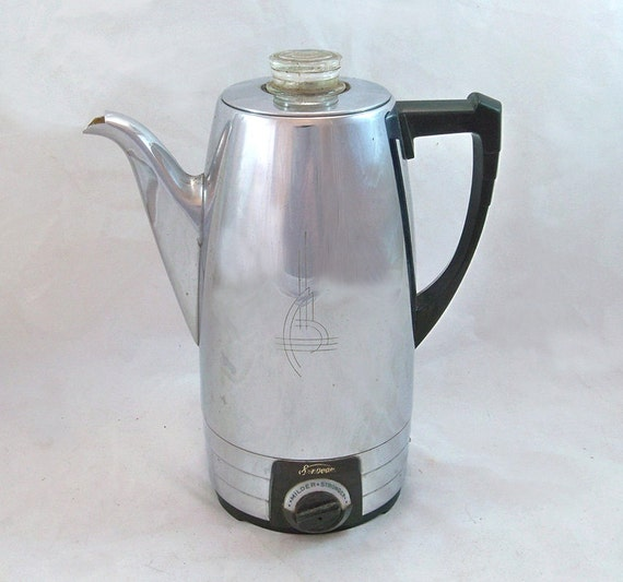 Sunbeam Percolator Coffee Maker : 1950s Sunbeam Automatic Percolator AP 8-Cup by coffeetropolis